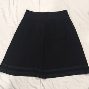Banana Republic A Line Midi Skirt Black 12